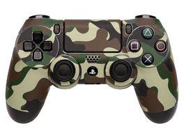 Skins Sticker fuer PS4 Controller Camo Green