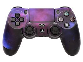 Skins Sticker fuer PS4 Controller Galaxy Violet