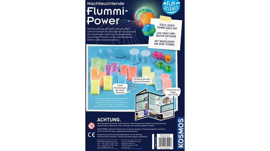 KOSMOS Fun Science Nachtleuchtende Flummi Power Experimentierkasten