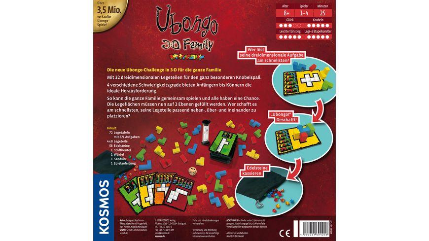 KOSMOS Ubongo 3 D Family Der dreidimensionale Knobelspass