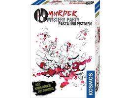 KOSMOS Murder Mystery Party Pasta Pistolen Das Krimi Dinner fuer zu Hause