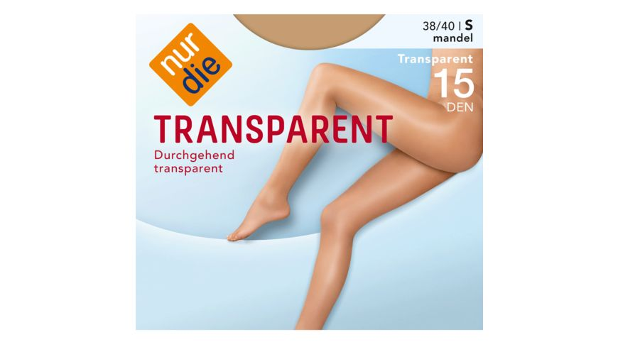 NUR DIE Damen Feinstrumpfhose Transparent 15 DEN