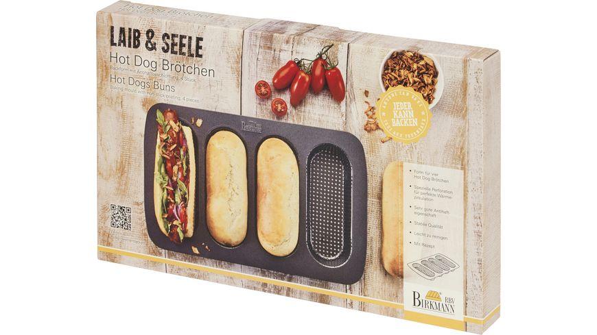 RBV BIRKMANN Backform Hot Dog Brötchen LAIB & SEELE 4er 35x22,5cm