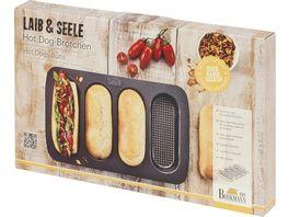 RBV BIRKMANN Backform Hot Dog Broetchen Laib Seele 4er 35x22 5cm