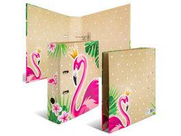 HERMA Motiv Ordner A4 Flamingo