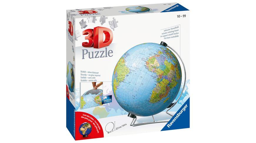 Ravensburger Puzzle 3D Puzzle Ball Globus in deutscher Sprache 540 Teile