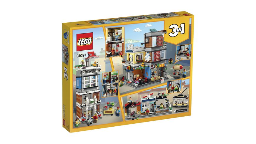 LEGO Creator 31097 Stadthaus mit Zoohandlung Cafe