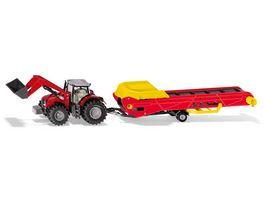 SIKU 1996 Farmer Massey Ferguson Traktor mit Foerderband