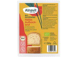Alnavit Bio Mildes Aufbackbrot glutenfrei