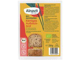 Alnavit Bio Kraeftiges Aufbackbrot glutenfrei