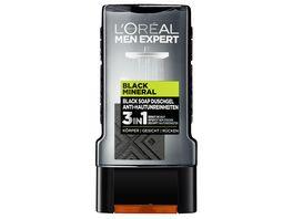L OREAL PARIS MEN EXPERT Black Mineral Duschgel Anti Hautunreinheiten