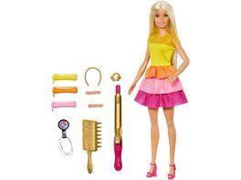 Barbie Locken Style Puppe blond Anziehpuppe Modepuppe Barbie Frisuren