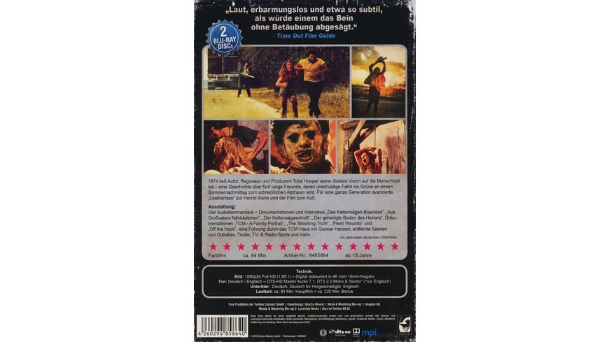 The Texas Chainsaw Massacre Limited Collector s Edition im VHS Design 2 BRs
