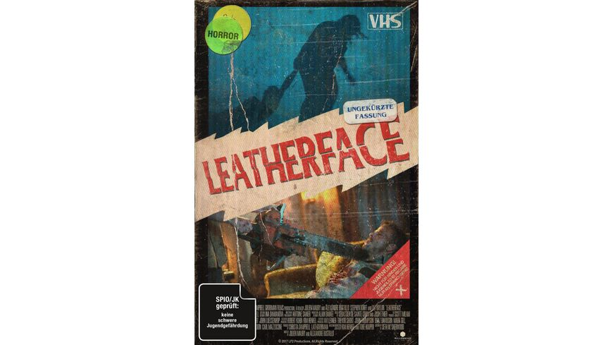 Leatherface Uncut Limited Collector s Edition im VHS Design DVD