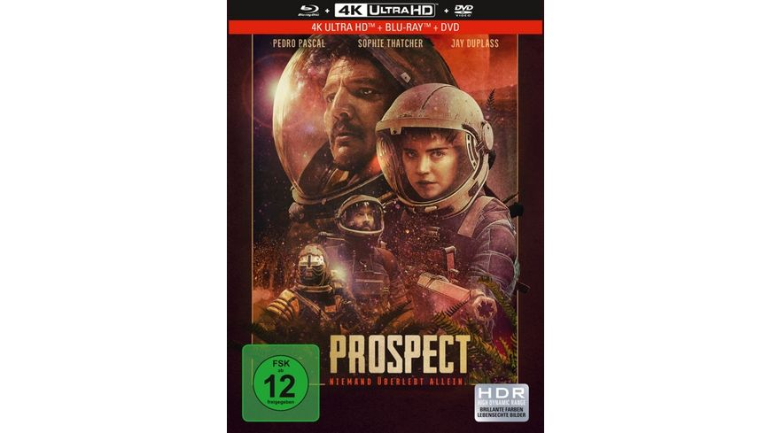 Prospect 3 Disc Limited Collector s Edition im Mediabook 4K Ultra HD Blu ray DVD