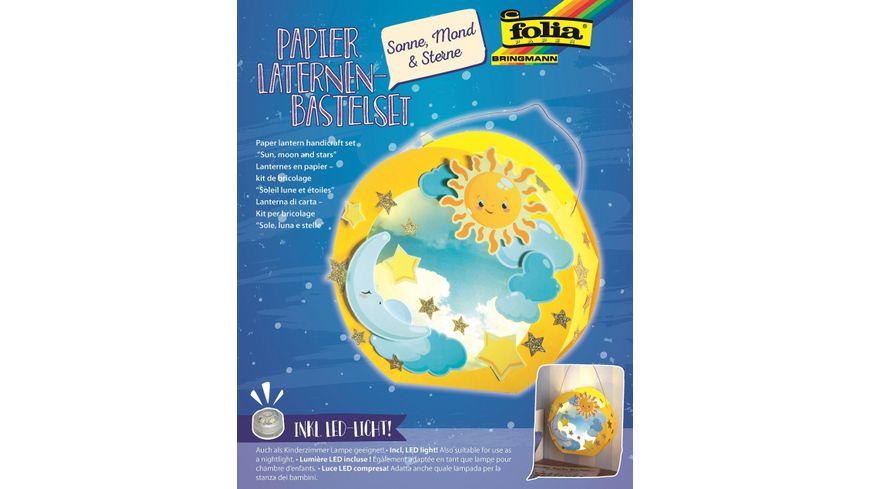 Folia Laternen Bastelset 23x33cm Sonne Mond Sterne