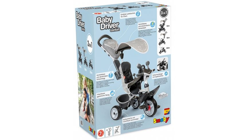Smoby Baby Driver Komfort Titan 3 in 1