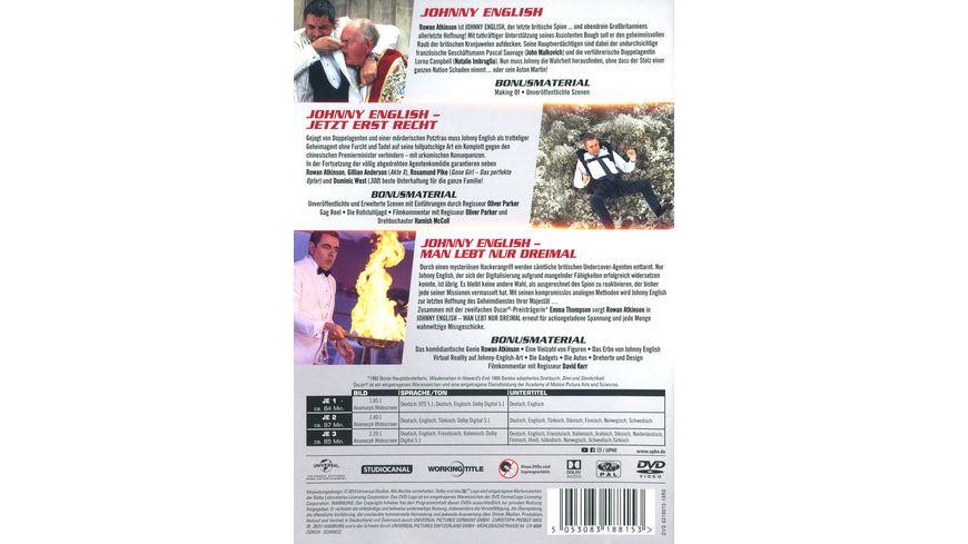 Johnny English 3 Movie Boxset 3 DVDs