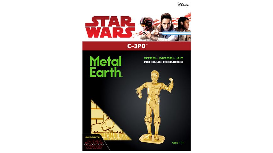 Metal Earth 502666 Star Wars Metal Earth C 3PO gold