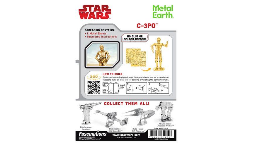Metalearth Star Wars Metal Earth C 3PO gold