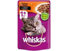 Whiskas Katzennassfutter 1 mit Gefluegel in Sauce Portionsbeutel