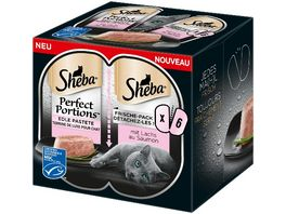 Sheba Perfect Portions mit Lachs 6er Pack