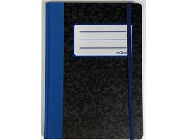 PAGNA Notizbuch A5 Basic kariert blau