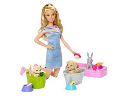 Mattel Barbie Badespass Tiere Puppe Spielset blond