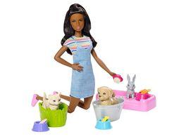Mattel Barbie Badespass Tiere Puppe Spielset