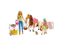 Barbie Reitspass mit Barbie blond Chelsea Pferd und Pony Pferde Spielzeug