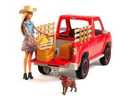 Mattel Barbie Spass auf dem Bauernhof Fahrzeug mit Puppe