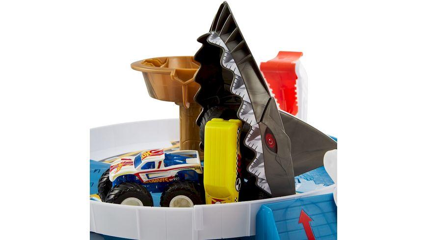 Mattel Hot Wheels Monster Trucks Hai Arena Spielset