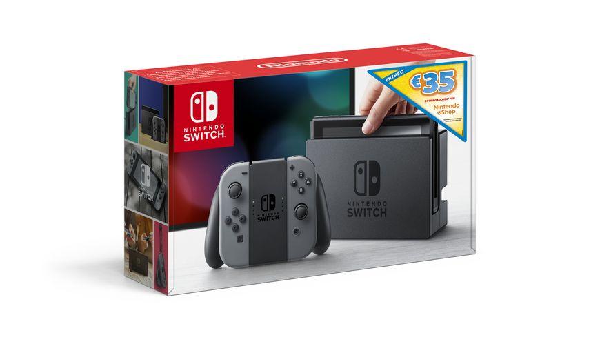 Nintendo Switch Konsole grau 35 EUR Guthaben E Shop