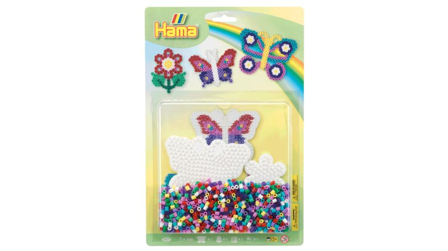 Hama Grosse Blister Packung Set Schmetterlinge