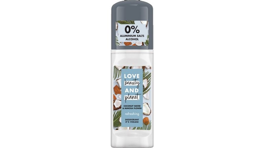 LOVE beauty AND planet Refreshing Deo Roll On Coconut Water Mimosa Flower