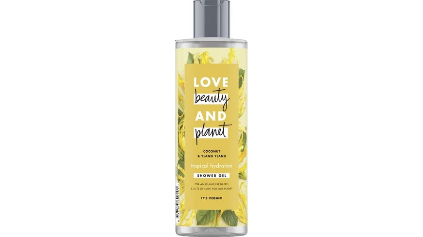 LOVE beauty AND planet Tropical Hydration Duschgel Coconut Oil Ylang Ylang Flower