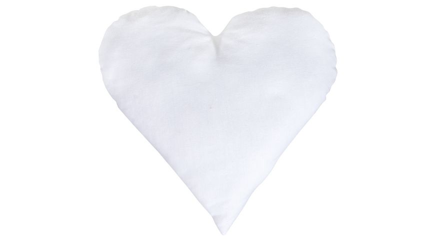 Rayher Kissenbezug Herz naturweiss
