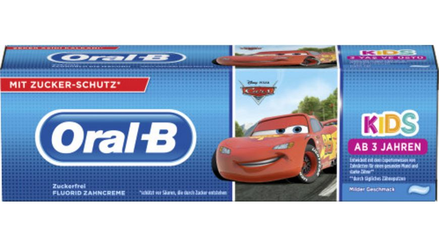 Oral B Kinderzahncreme Cars oder Eiskoenigin