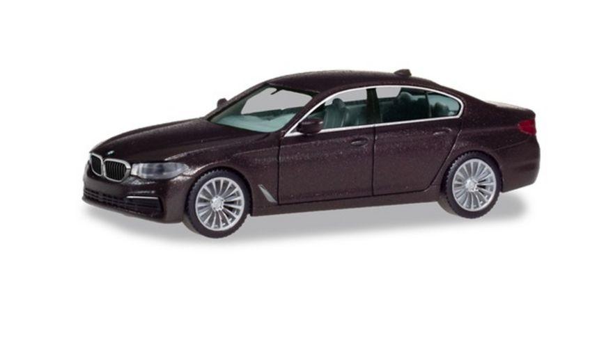 Herpa 430692 BMW 5er Limousine Jatoba metallic