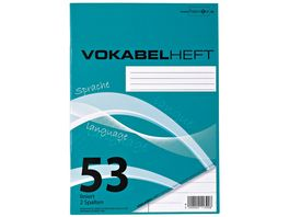 PAPERZONE Vokabelheft A5 Lineatur 53 2 Spalten