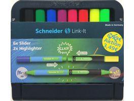 Schneider Kugelschreiber SLIDER Link It 2 Textmarker Link It