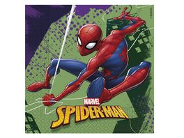 Procos Marvel Spiderman Team up Servietten 33x33cm 20 Stueck