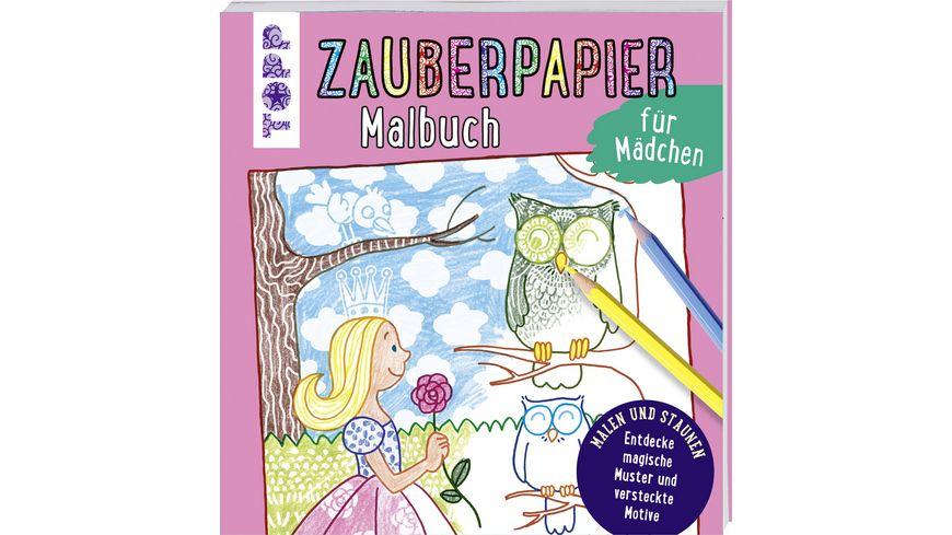 Zauberpapier Malbuch fuer Maedchen Entdecke magische Muster und versteckte Motive