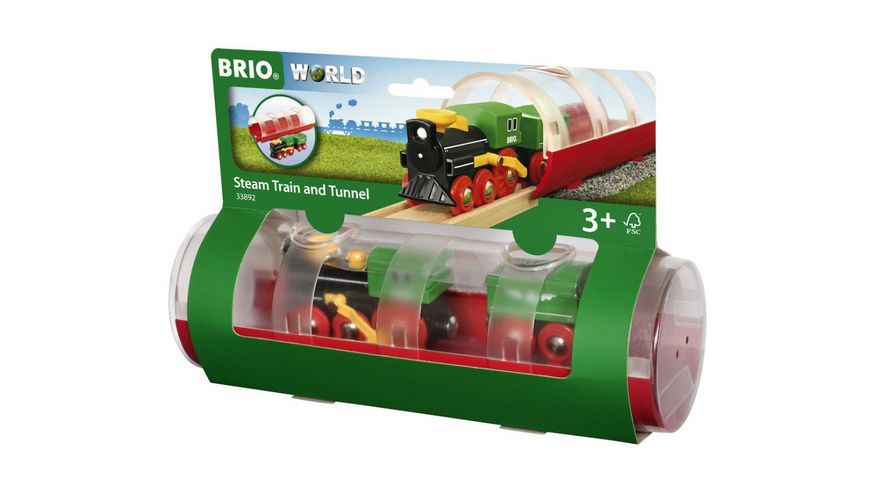 BRIO Bahn Tunnel Box Dampflokzug