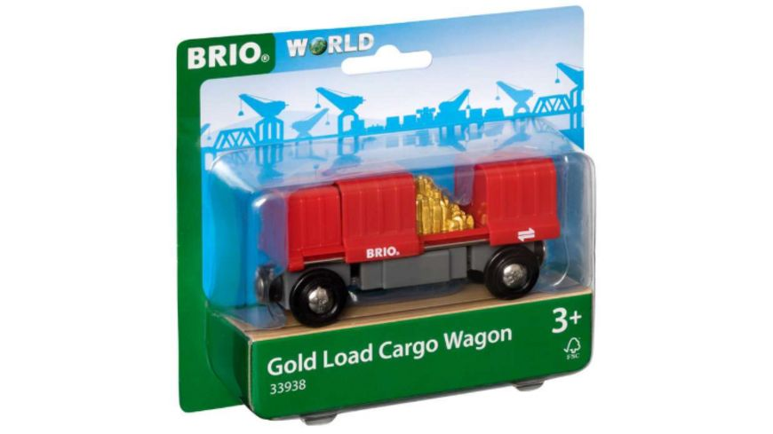 BRIO Bahn Container Goldwaggon