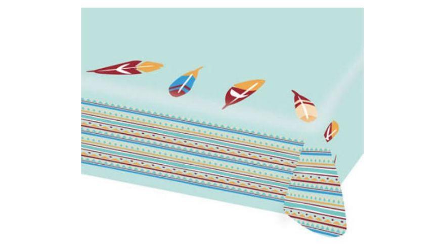 Amscan Papiertischdecke Tipi Tomahawk aus Papier 115 x 175 cm