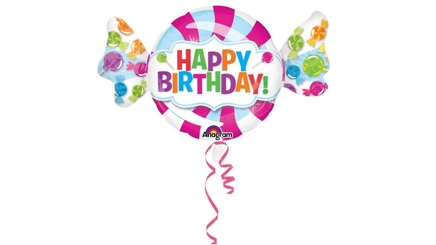 Anagram SuperShape Happy Birthday Folienballon 101 x 73cm