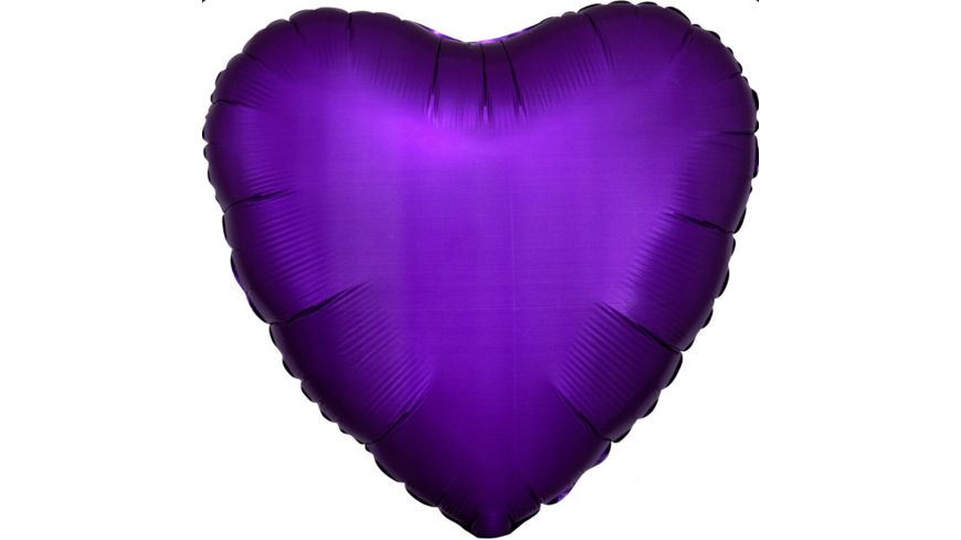 Anagram Folienballon HERZ Purple Satin Luxe S15 43cm