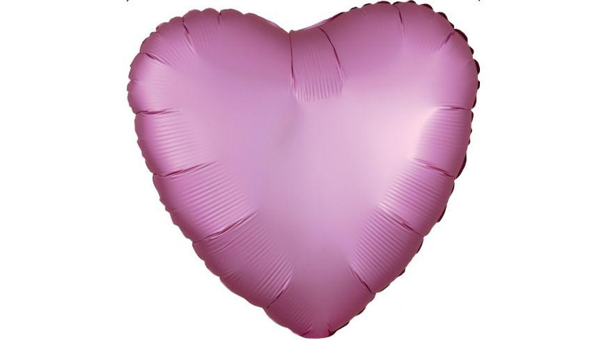 Anagram Folienballon HERZ Flamingo Satin Luxe S15 43cm