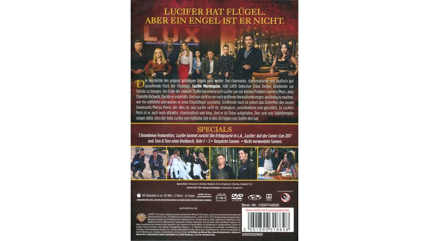 Lucifer Die komplette 3 Staffel 5 DVDs